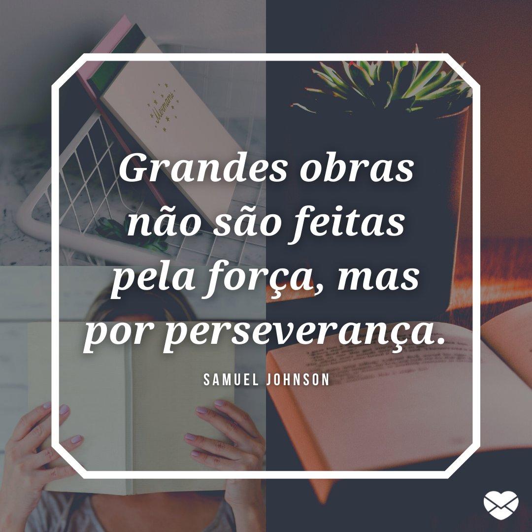 'Grandes obras não são feitas pela força, mas por perseverança.' - História, mensagens e frases do Dia do Estudante