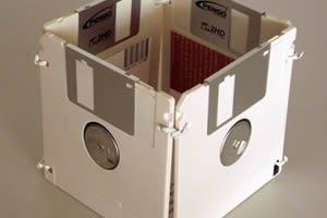 Foto de um disquete.