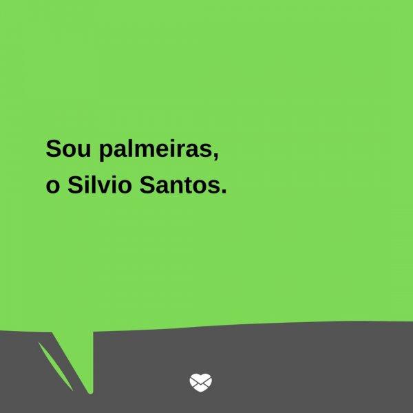 'Sou palmeiras, o Silvio Santos.' - Trocadilhos