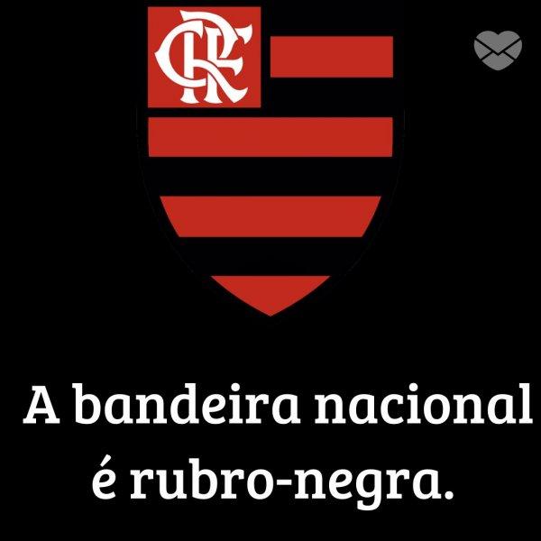 'A bandeira nacional é rubro-negra.' -  Mensagens de futebol do Flamengo