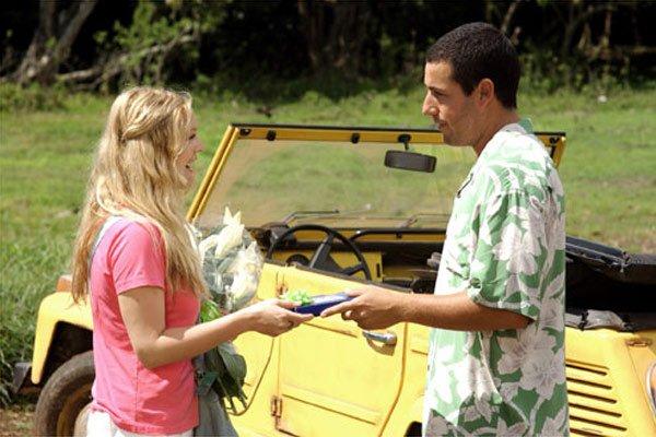 Cena de Adam Sandler e Drew Barrymore em Como Se Fosse A Primeira Vez