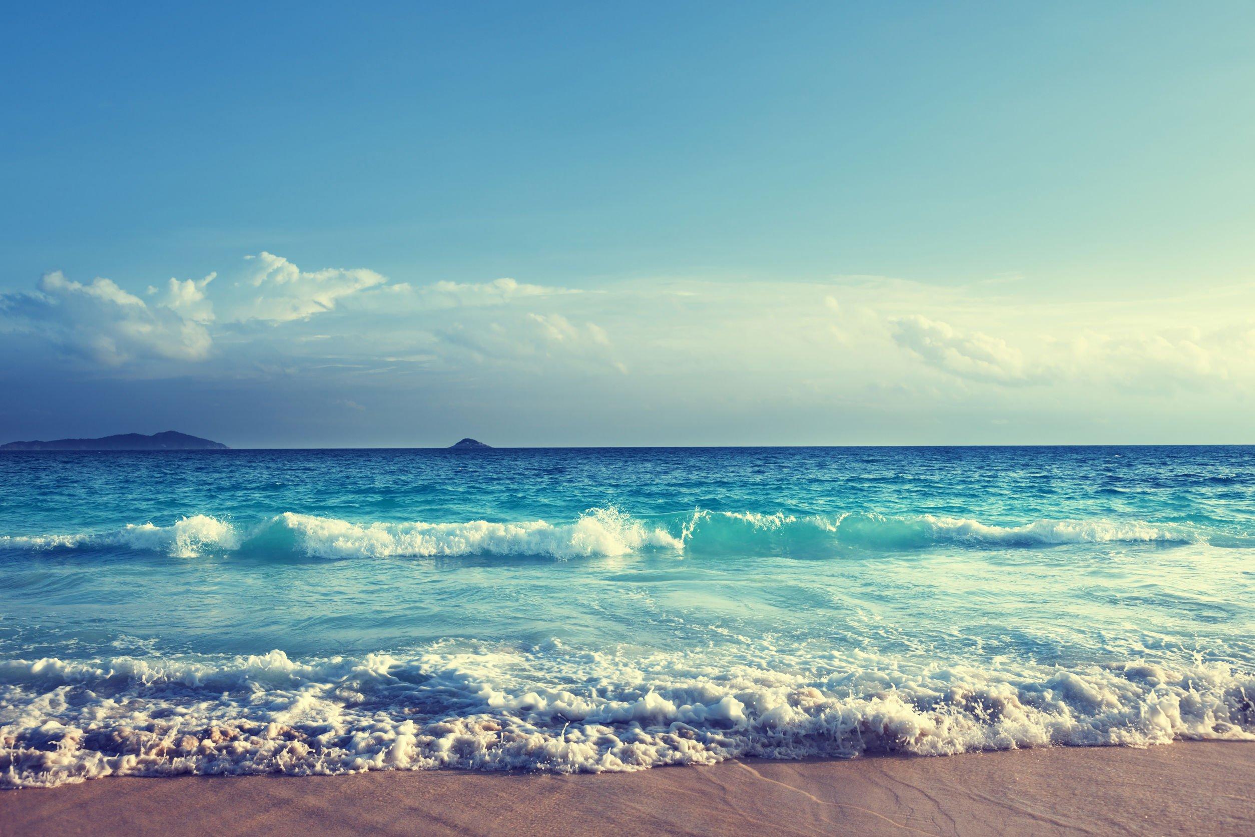 Ondas do mar na praia