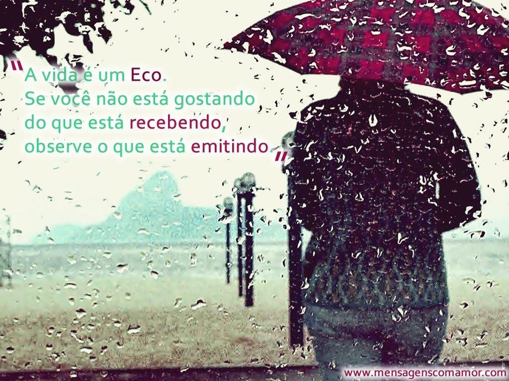 A Vida é Um Eco Se Você Não Está Gostando Do Que Está: Eco Do Coração