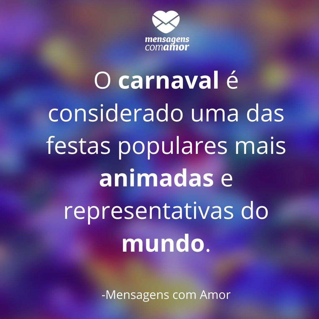 'O carnaval é considerado uma das festas populares mais animadas e representativas do mundo.'História do Carnaval no Brasil
