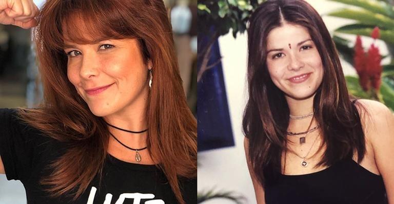 À esquerda, Samara Felippo atualmente. À direita, a atriz em Malhação