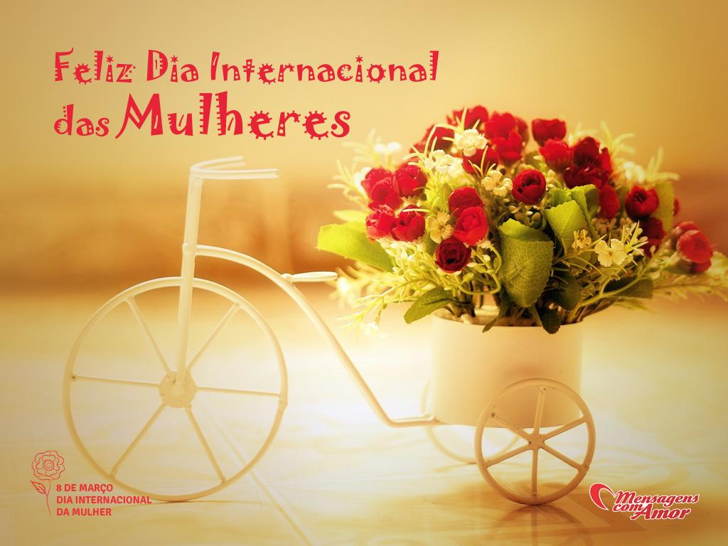'Feliz Dia Internacional das Mulheres' -  Imagens para o Dia Internacional da Mulher