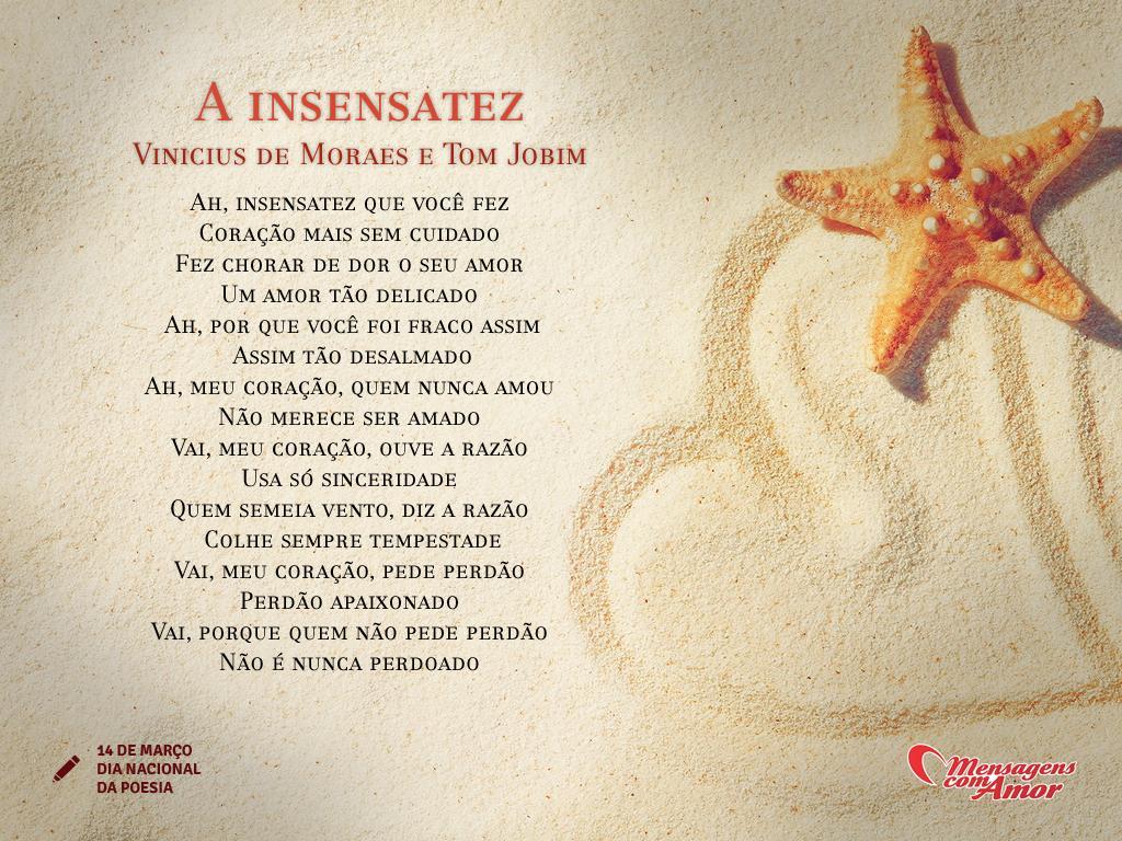 Extremamente A Insensatez - Vinícius de Moraes e Tom Jobim - Datas Especiais LU77