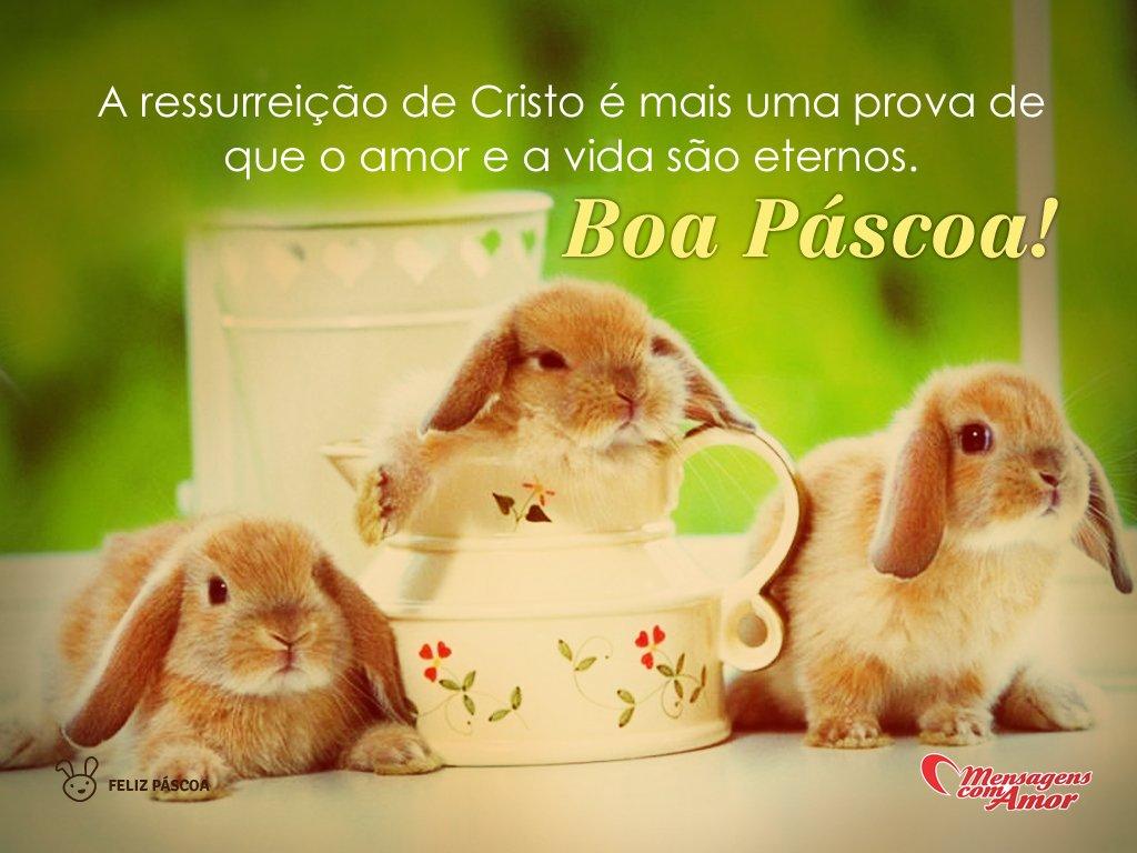 'A ressurreição de Cristo é mais uma prova de que o amor e a vida são eternos. Boa Páscoa!' -  Imagens de Páscoa