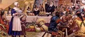 Pintura de comemoração de Ação de Graças.