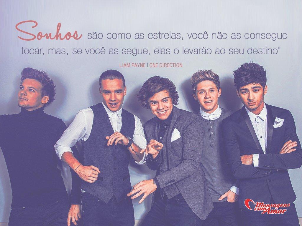 'Sonhos são como as estrelas, você não as consegue tocar, mas, se você as segue , elas o levarão ao seu destino.' - Imagens de One Direction