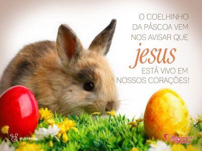 'O coelhinho da Páscoa vem nos avisar que Jesus está vivo em nossos corações.' -  Frases de Páscoa