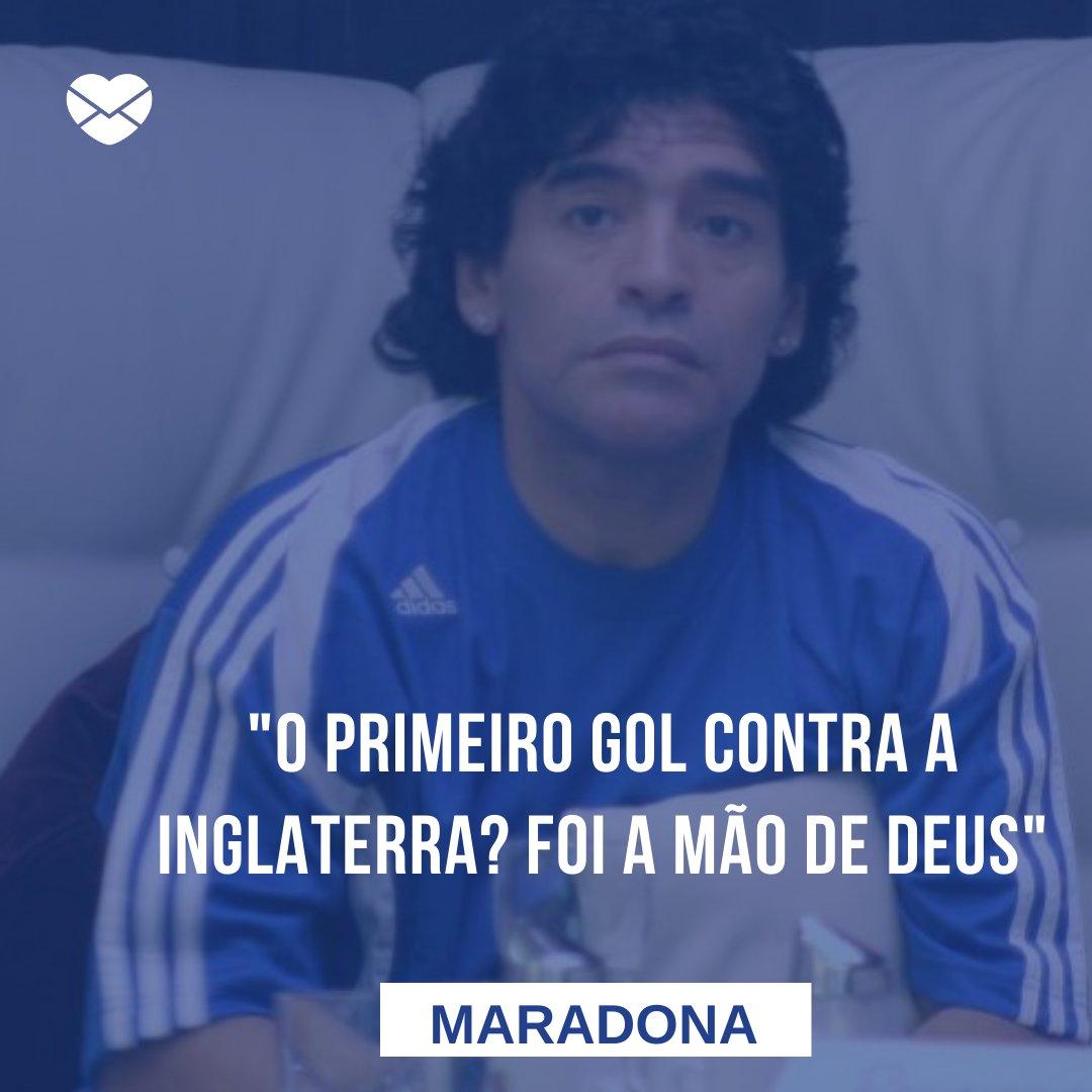'O primeiro gol contra a Inglaterra? Foi a mão de Deus' - Maradona