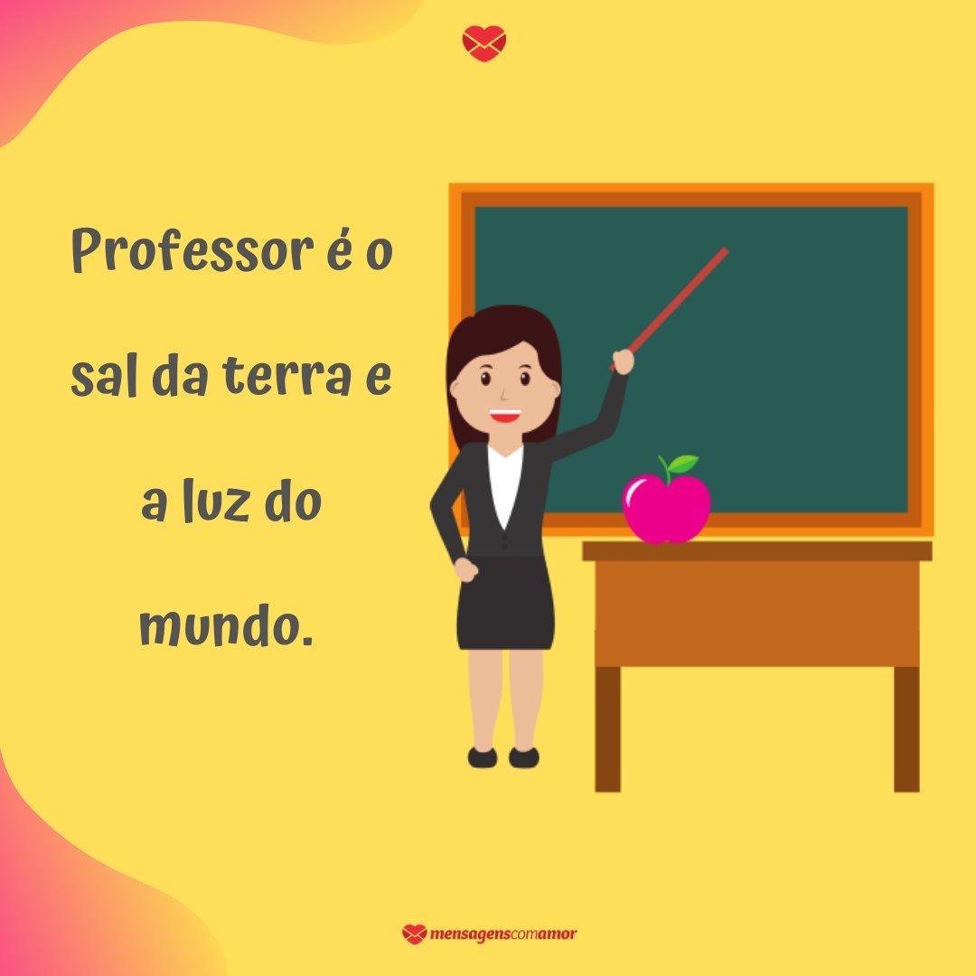 'Professor é o sal da terra e a luz do mundo' -  Frases de eu amo meu professor