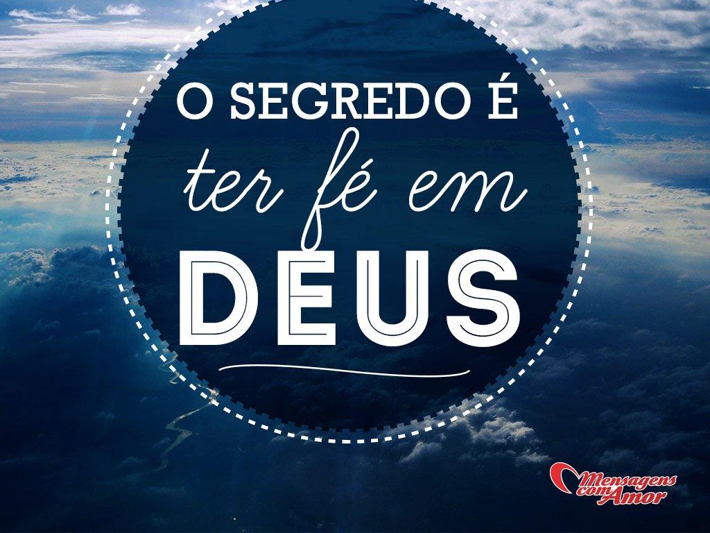 'O segredo é ter fé em Deus' - Aos Cuidados de Deus