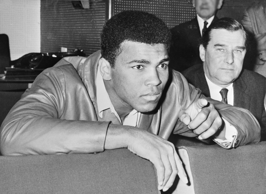 Muhammad Ali no ringue de luta