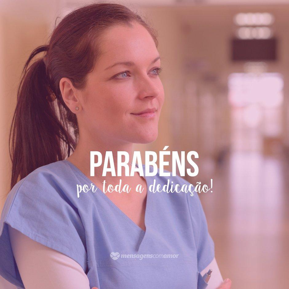 'Parabéns por toda a dedicação' - Dia do Enfermeiro