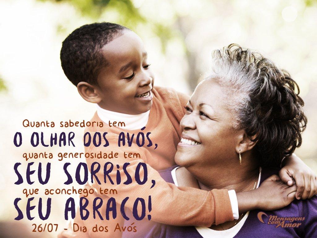 Mensagem Dia Das Avos: Sorrisos E Abraços