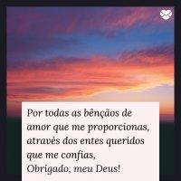 Mensagens De Gratidão A Deus Obrigado Por Tudo Senhor