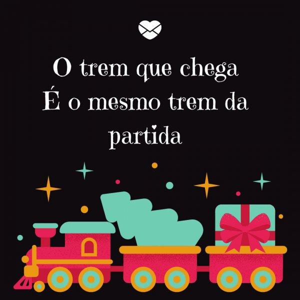 'O trem que chega é o mesmo trem da partida' - Despedida das Aulas