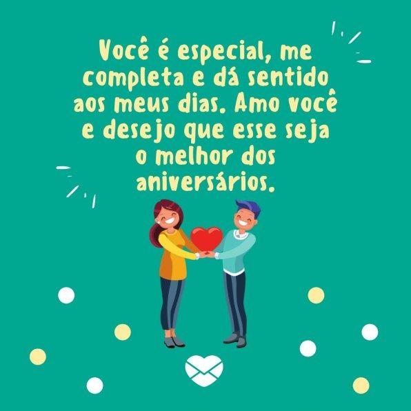 Feliz Aniversário Meu Amor Felicidade Plena E Muito Carinho