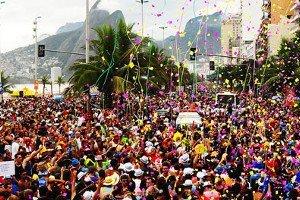 Bloco de carnaval no Rio de Janeiro