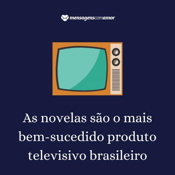 'As novelas são o mais bem-sucedido produto televisivo brasileiro' -  Curiosidades sobre a cultura brasileira