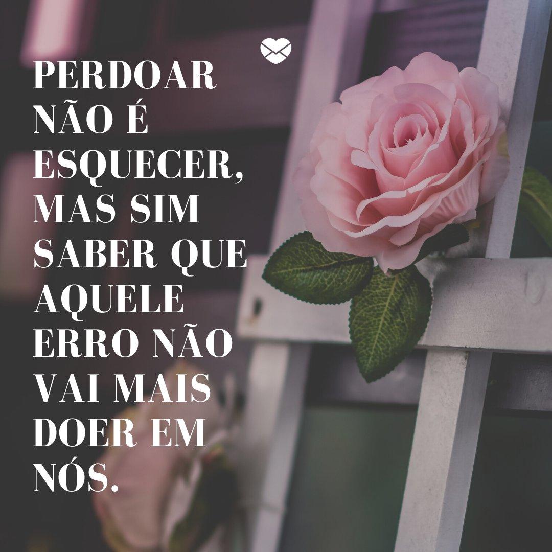 'Perdoar não é esquecer, mas sim saber que aquele erro não vai mais doer em nós.' -Aprenda com os erros da vida