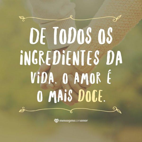 'De todos os ingredientes da vida, o amor é o mais doce' - 10 provas de que o amor é importante