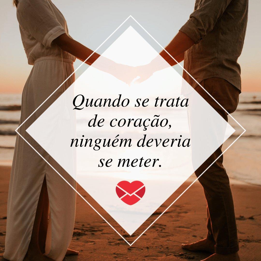 'Quando se trata de coração, ninguém deveria se meter.' - Consertando um amor aos pedaços