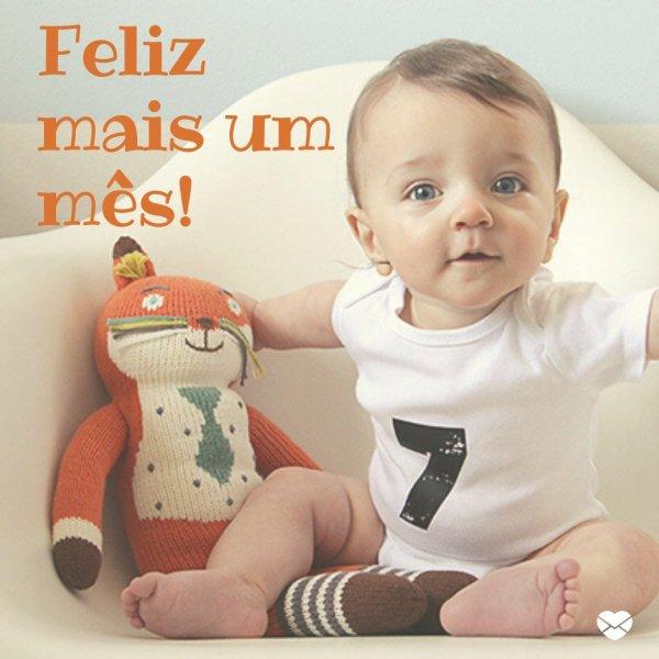 'Feliz mais um mês!' - Mensagens para bebê de 7 meses