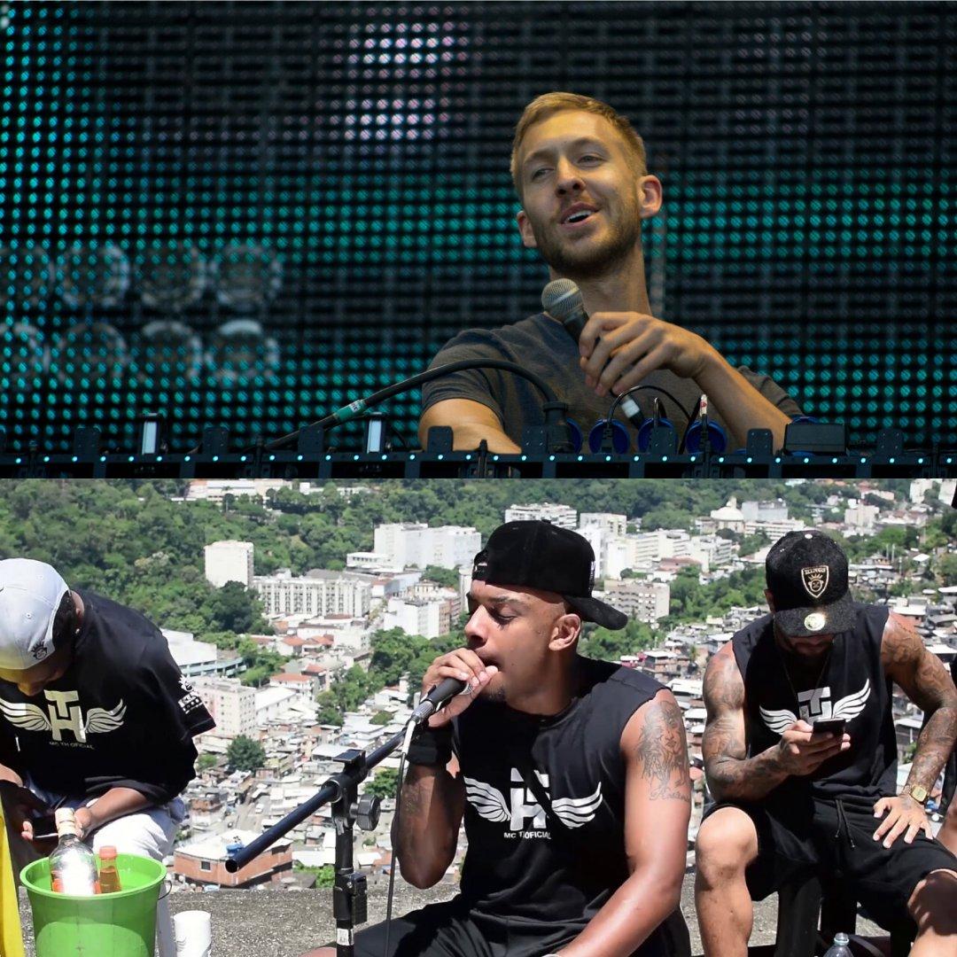 Fotos do DJ Calvin Harris e do MC TH