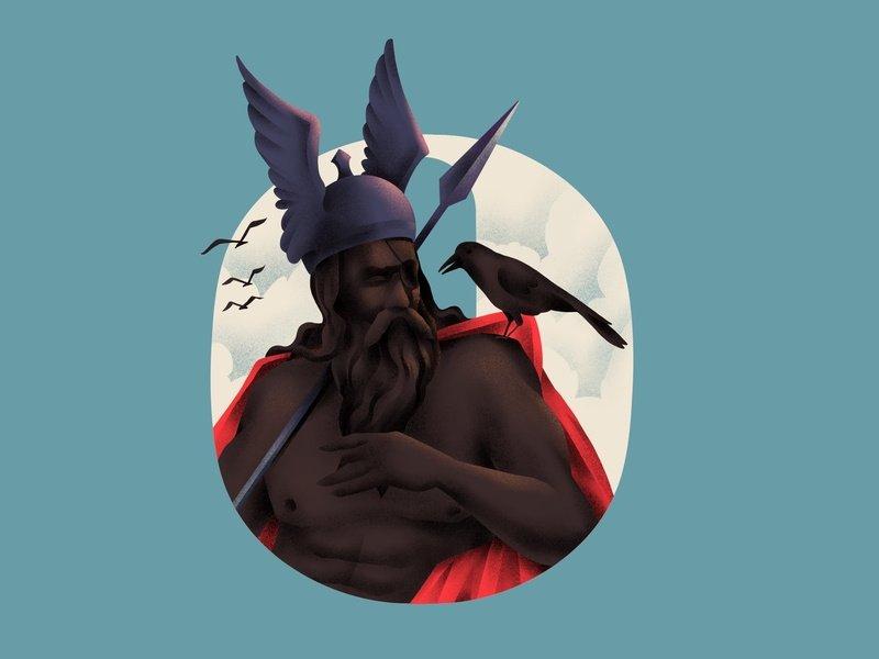 Ilustração do deus Odin