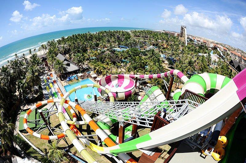 Vista do Beach Park, em Fortaleza.