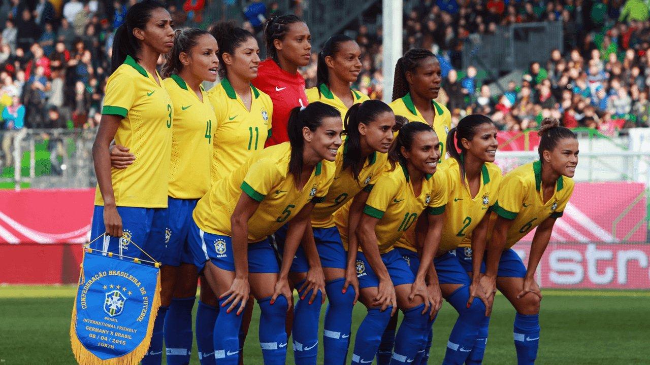 Seleção brasileira de futebol feminino em campo
