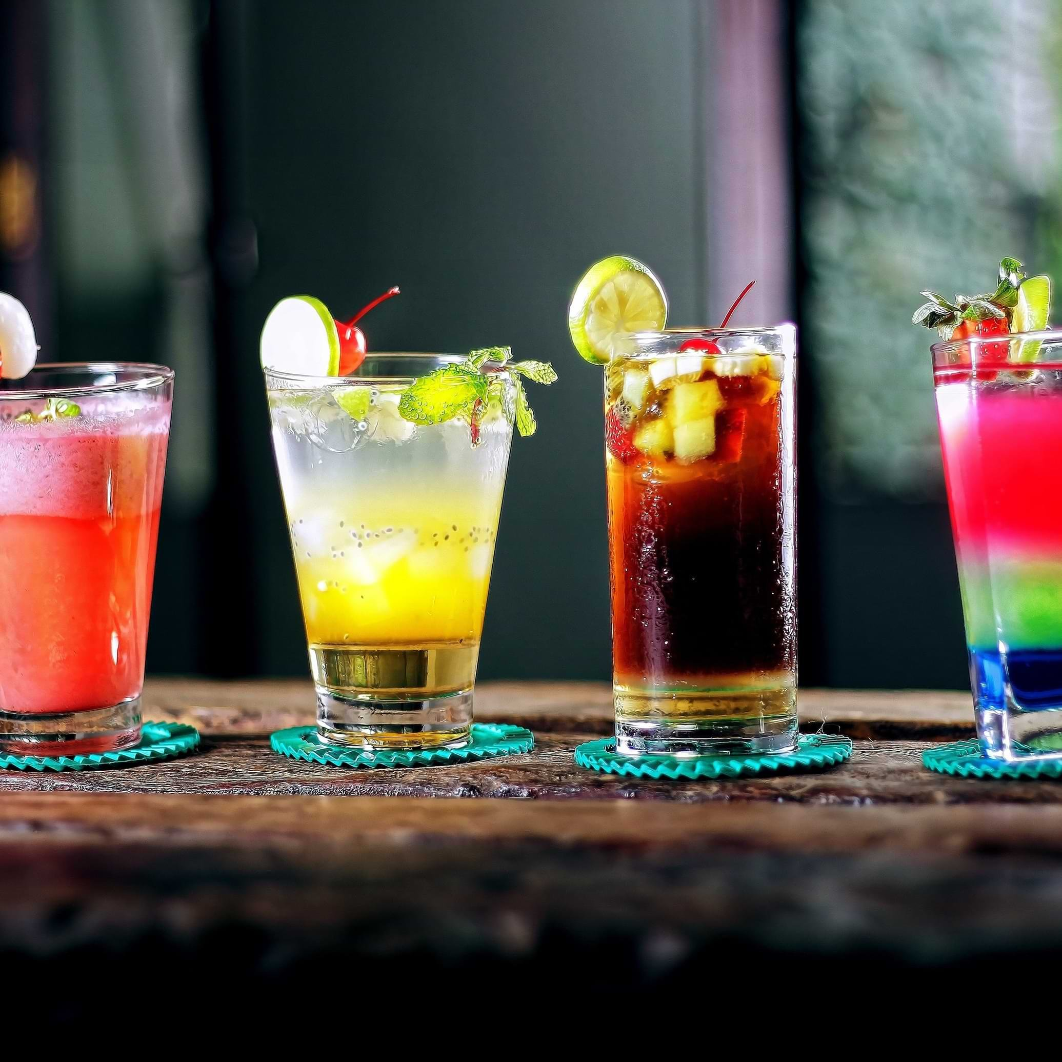 Foto de drinks de diversos sabores