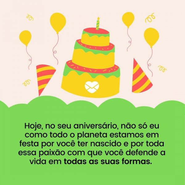 Festa Na Natureza Mensagem De Aniversário Para Sobrinha