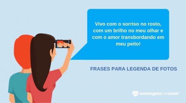 Sorrir Brilhar E Amar Frases Para Legenda De Fotos