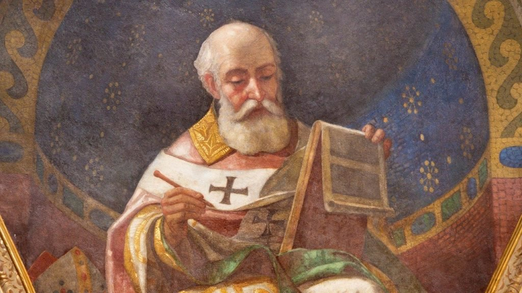 Desenho de Santo Agostinho.
