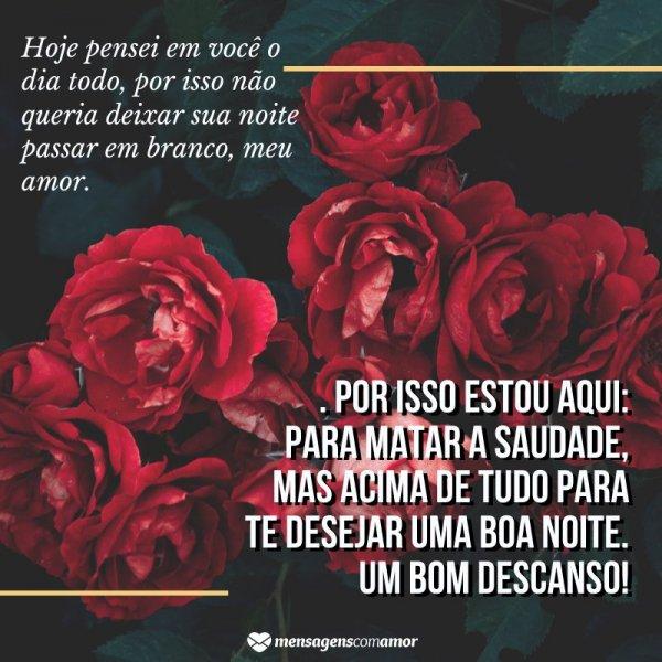 Durma Bem Meu Amor Mensagem De Boa Noite Com Rosas Boa