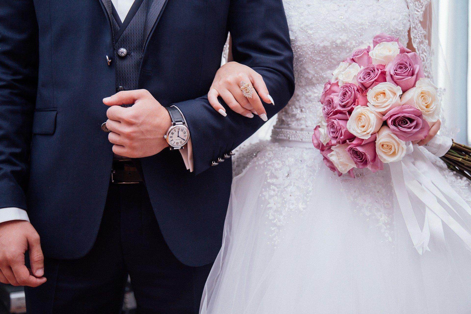 Foto de noivos juntos