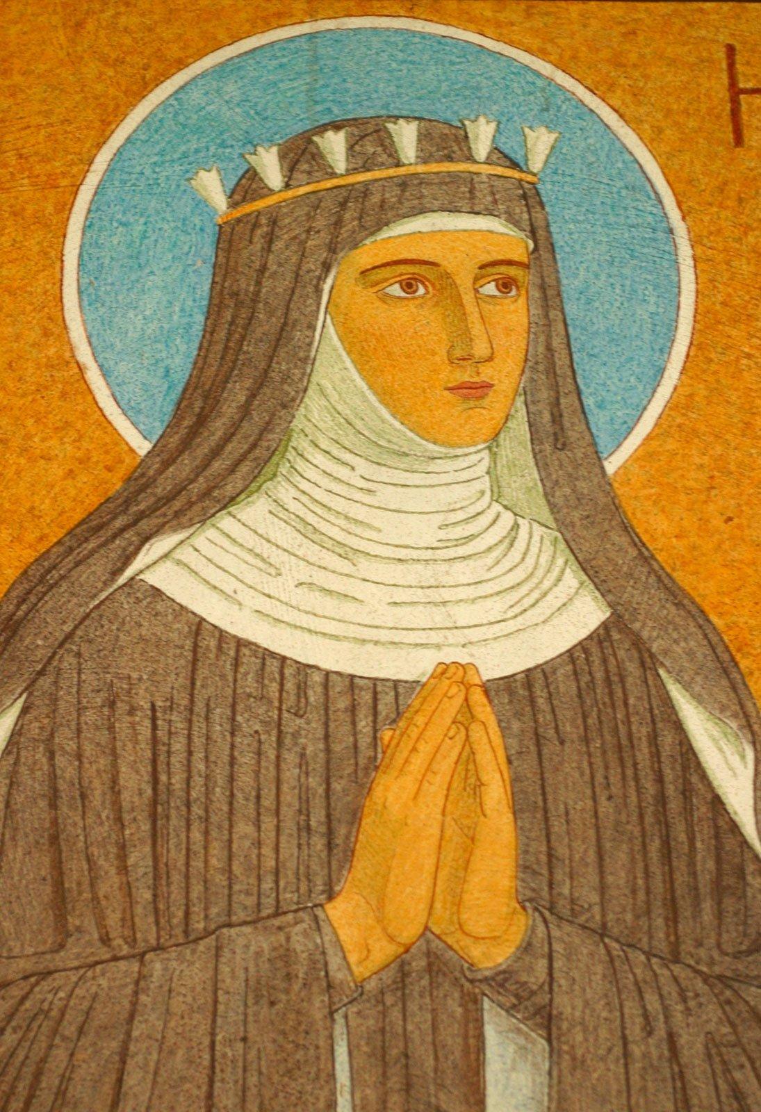 Pintura de Hildegard de Bingen