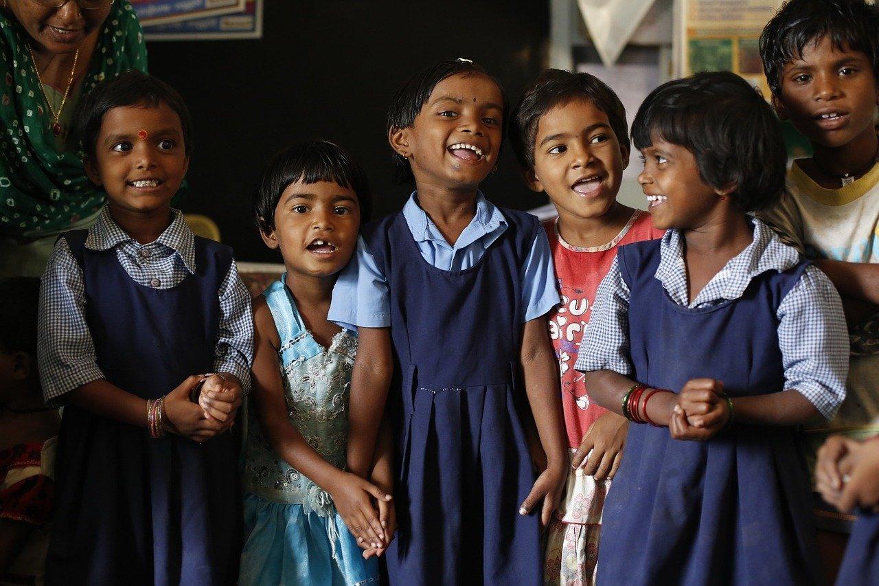 Alunos de escola na índia