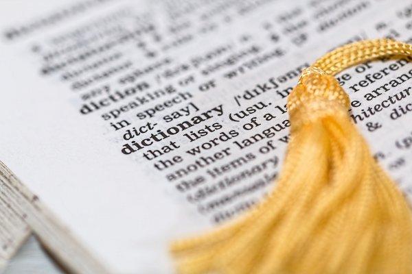 Página de dicionario