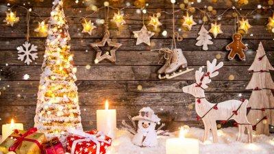 Artigos natalinos de decoração