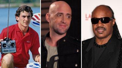 Colagem com imagens de Napoleão Bonaparte, Empire State, Joanna D'Arc e Ayrton Senna
