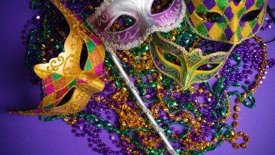 Máscaras e acessórios de carnaval