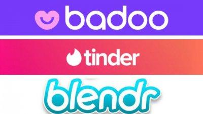 Logos de sites e aplicativos de relacionamentos