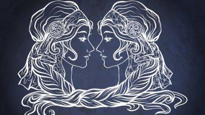 Ilustração de signo de gêmeos