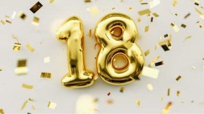 Balões de aniversário de 18 anos