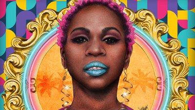 Ilustração da cantora negra Carol Konka